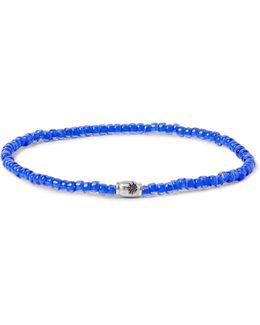 Glass Bead White Gold Bracelet