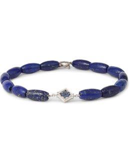 Lapis, White Gold And Sapphire Bracelet