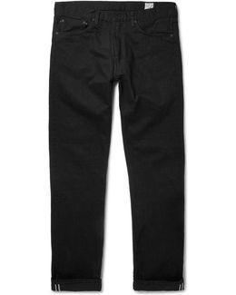 107 Slim-fit Washed Selvedge Denim Jeans
