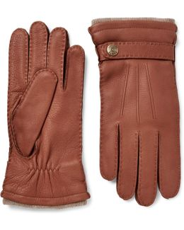 Gloucester Cashmere-lined Full-grain Leather Gloves