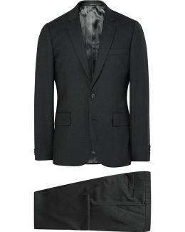 Grey A Suit To Travel In Soho Slim-fit Wool Suit