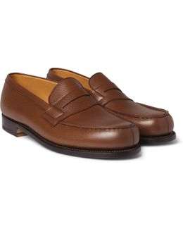 180 The Moccasin Grained-leather Loafers