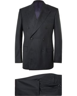 Navy Harry Slim-fit Pinstriped Super 120s Wool And Cashmere-blend Suit