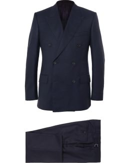 Navy Harry Slim-fit Super 120s Wool And Cashmere-blend Suit