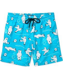 Moorea Long-length Printed Swim Shorts