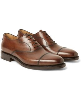 Roccia Polished-leather Oxford Shoes