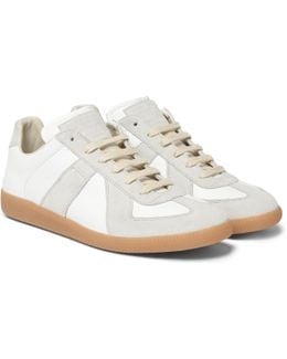 Replica Suede And Leather Sneakers