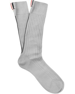 Ribbed Cotton Over-the-calf Socks