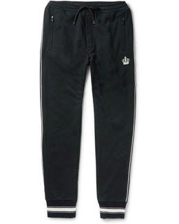 Slim-fit Loopback Cotton-jersey Sweatpants
