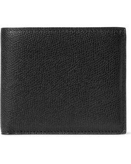 Pebble-grain Leather Billfold Wallet