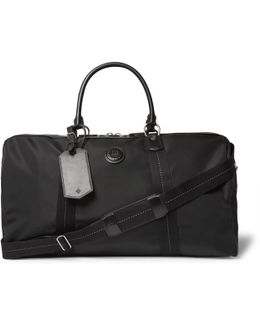 Guardsman Leather-trimmed Canvas Holdall