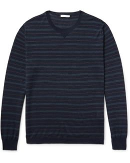 Striped Virgin Wool And Silk-blend Sweater