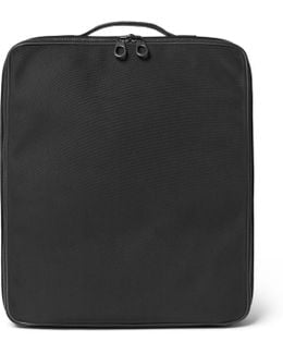 Intrecciato Leather-trimmed Canvas Shirt Case