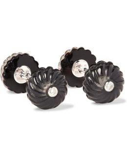 18-karat White Gold, Onyx And Diamond Cufflinks