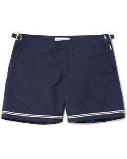 Bulldog Mid-length Stripe-trimmed Swim Shorts