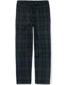 Hoffman Checked Cotton-flannel Pyjama Trousers