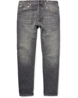 Washed-denim Jeans
