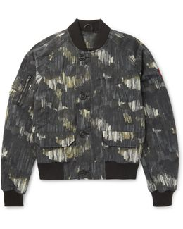 Faber Printed Canvas Bomber Jacket
