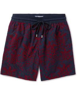 Moorea Long-length Flocked Swim Shorts