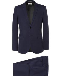 Blue Slim-fit Virgin Wool-gabardine Suit