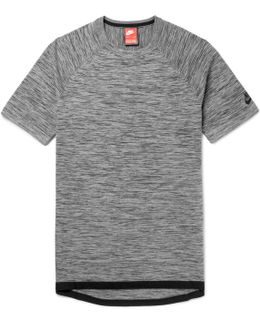 Sportswear Slim-fit Mélange Tech-knit T-shirt