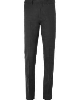 Grey Brobyn Slim-fit Wool Suit Trousers
