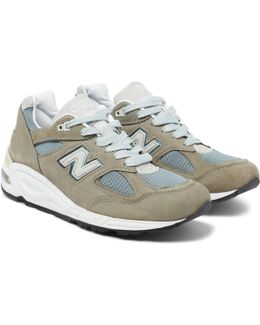 990 Suede And Mesh Sneakers