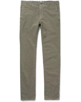 Slim-fit Stretch-cotton Twill Chinos