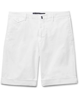 Slim-fit Stretch-cotton Shorts