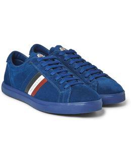 La Monaco Leather-trimmed Suede Sneakers