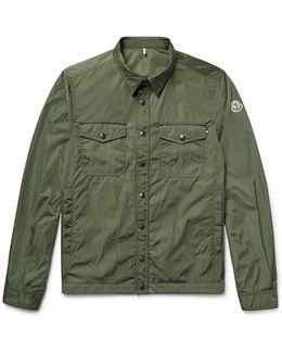 Triomphe Cotton-trimmed Nylon Shirt Jacket