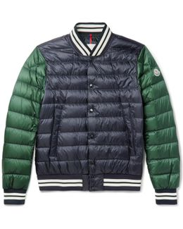 Enrick Slim-fit Stripe-trimmed Quilted Shell Down Bomber Jacket