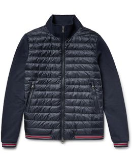 Loopback Cotton-jersey And Quilted Shell Down Bomber Jacket