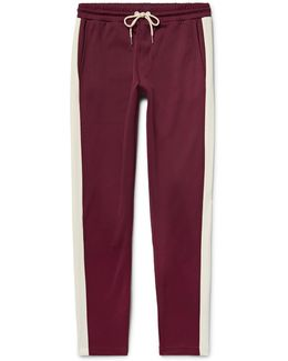 Slim-fit Striped Jersey Sweatpants