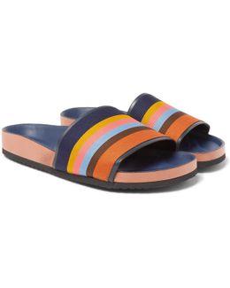 Striped Grosgrain Slides