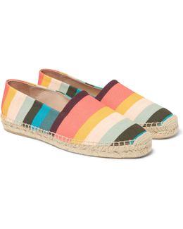 Sunny Striped Canvas Espadrilles