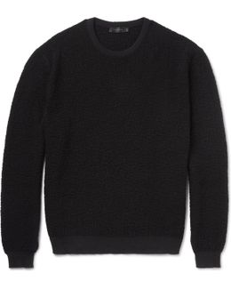 Raiger Textured-knit Wool Sweater
