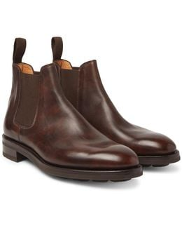 Lawry Water-resistant Burnished-leather Chelsea Boots