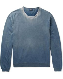 Washed Cotton-jersey Sweatshirt
