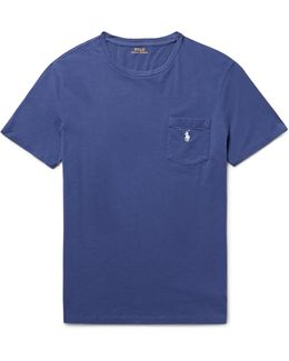Pocket T-shirt Polo Player In Yale Blue