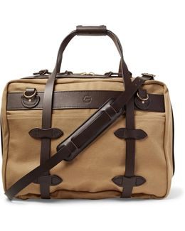 Pullman Leather-trimmed Twill Holdall