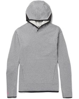 Lab Acg Mesh-trimmed Stretch-cotton Jersey Hoodie