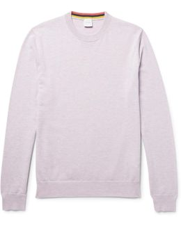 Mélange Cashmere, Cotton And Wool-blend Sweater