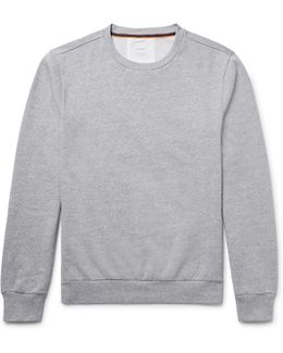 Elbow-patch Fleece-back Cotton-jersey Sweatshirt