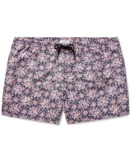 Arlen Slim-fit Mid-length Printed Swim Shorts