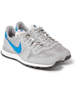 Internationalist Suede, Leather And Shell Sneakers
