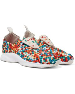 Air Woven Premium Faux Suede-trimmed Woven Sneakers
