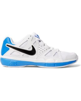 Air Vapor Advantage Faux Leather And Mesh Tennis Sneakers