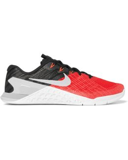 Metcon 3 Textured-mesh And Rubber Sneakers