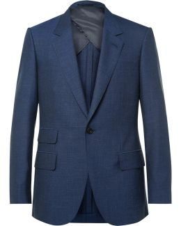 Blue Eggsy Wool, Silk, Mohair And Linen-blend Suit Jacket
